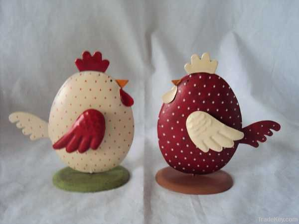metal decorative easter chick
