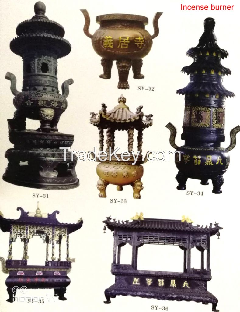 Incense burner / Bronze Tripod / Bronze bell