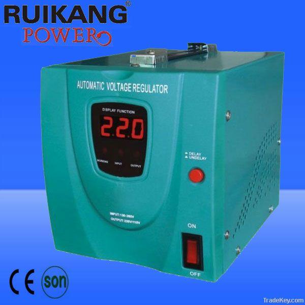 YVR-1500VA, AVR, automatic voltage stabilizer , relay type