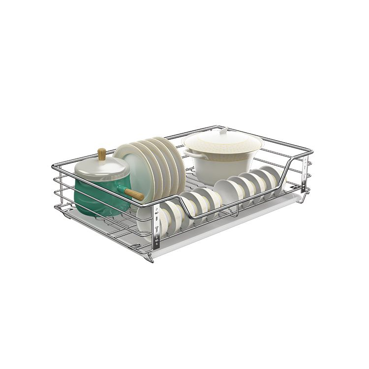 Factory Kitchen Cabinet Soft-Stop Pull-out Wire Sliding Basket