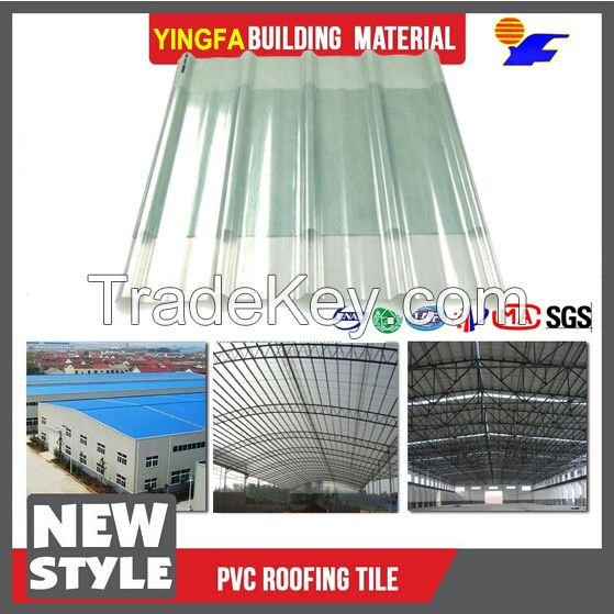15-year guarantee translucent FRP plastic roofing sheet