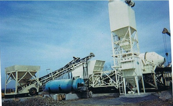 Erie Strayer portable concrete batch plant