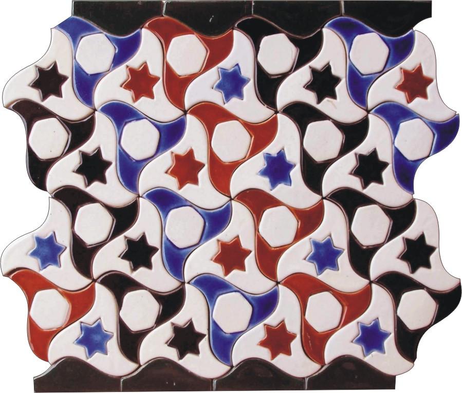 Hand made ceramic tile mosaic