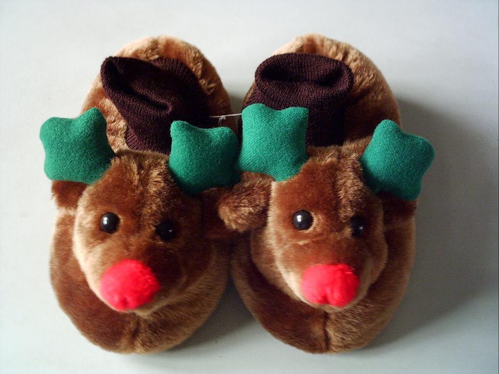 plush slipper