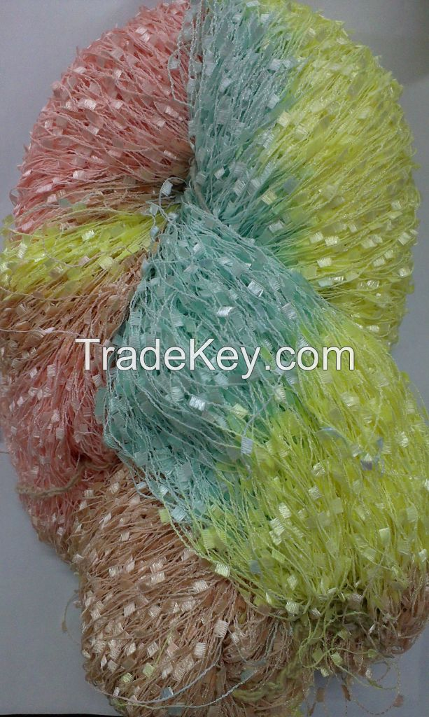 100%Polyester Section Dyed Toothbrush Yarn