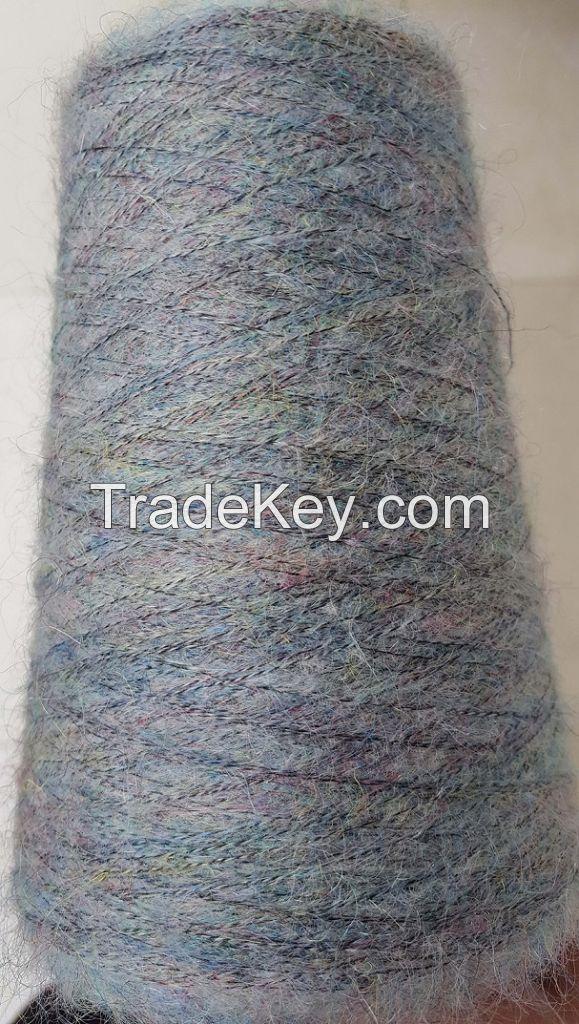 17% acrylic 20% Mohair 14% Wool 49% Nylon Colorful Fancy Yarn Nap Yarn Tam Yarn