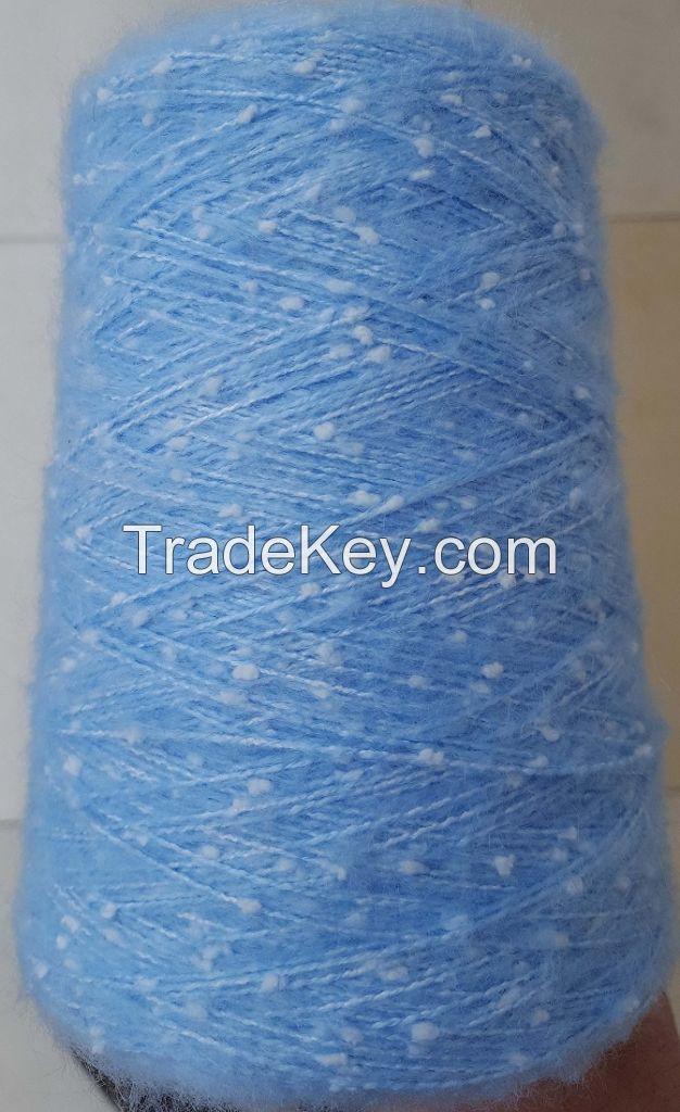 50%acrylic 50%polyester speck fancy yarn
