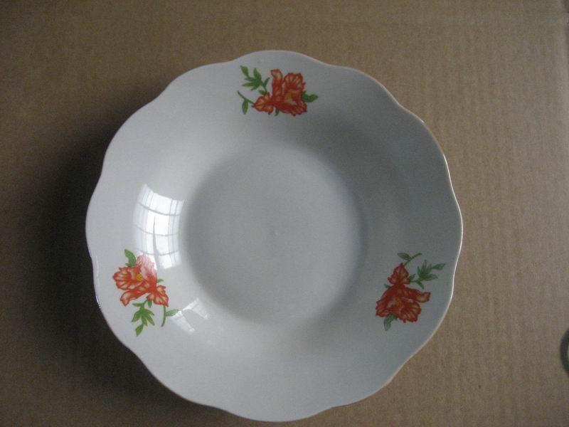 Decal Porcelain Bowl