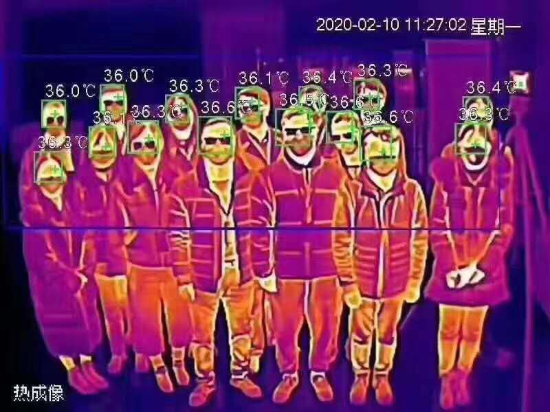 AI Intelligent Infrared Thermography Body Temperature Detector