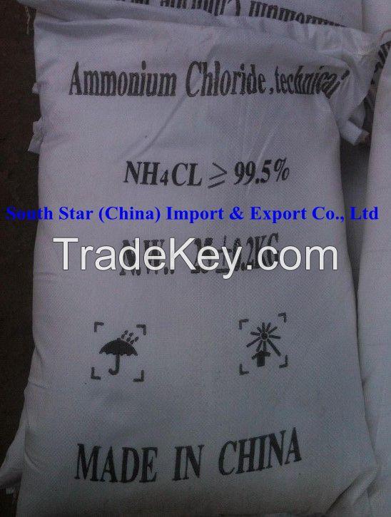 AMMONIUM CHLORIDE 99.5%MIN (NH4Cl)