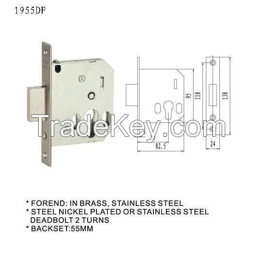 door lock body mortise lock