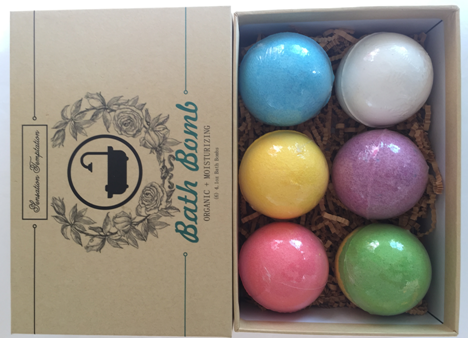 Wholesale Hot Sale 6PCS Natural Ingredient Colorful Salts Ball SPA Moisturizing Fizzy Bath Bombs OEM