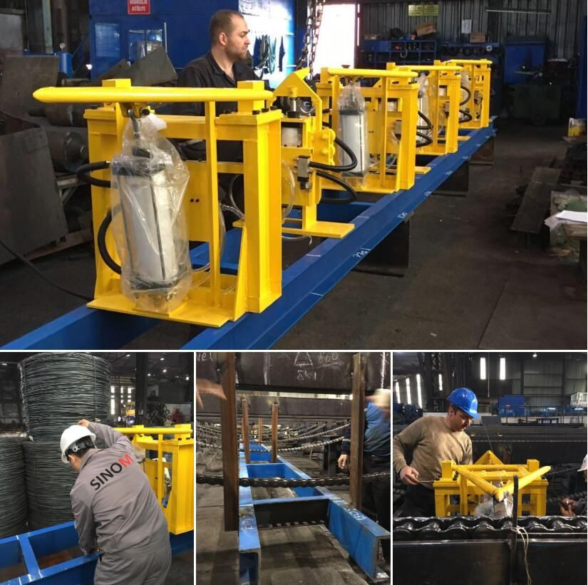 Online automatic rebar counting and splitting system