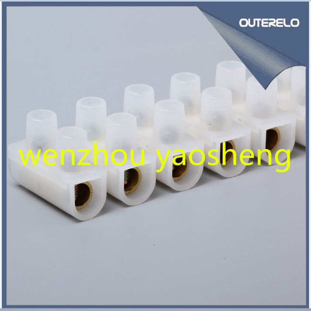 High quality PE U type terminal block terminal strips pvc connector