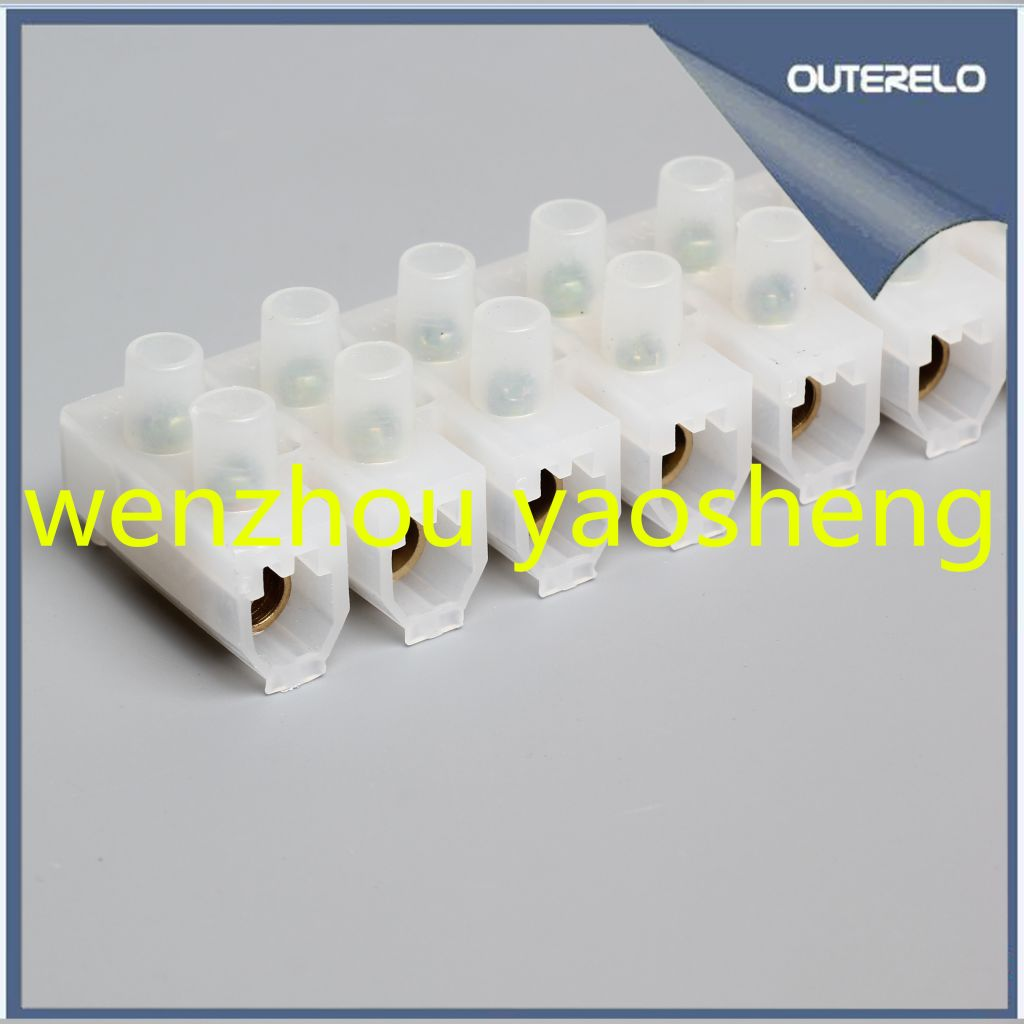 High quality PE veto type terminal block terminal strips pvc connector