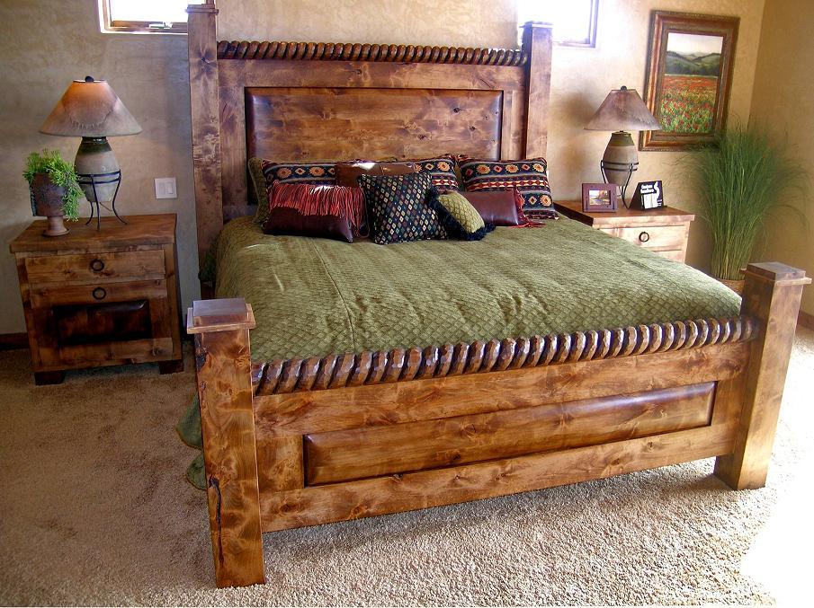 Wooden Bed Set