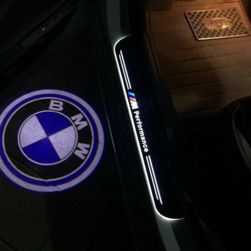 LED Moving Door Scuff Step Plate Sill Cover Trim Panel For All Car Brand