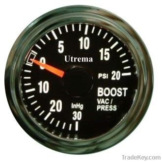 Utrema Auto Turbo Boost Vacuum Gauge Illuminated 52mm