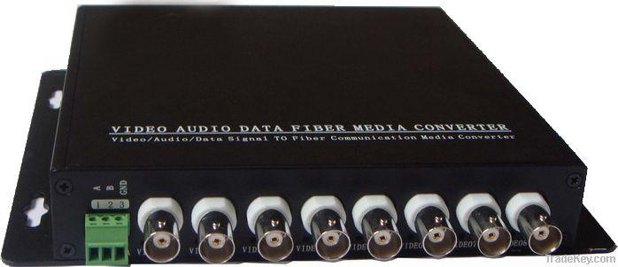 1-16channels Fiber optic video converter