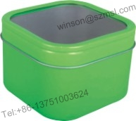 Tin Box With Window