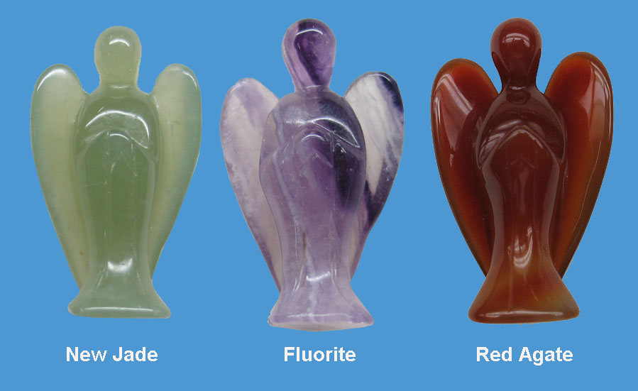 Gemstone Angel Carving - CV0001