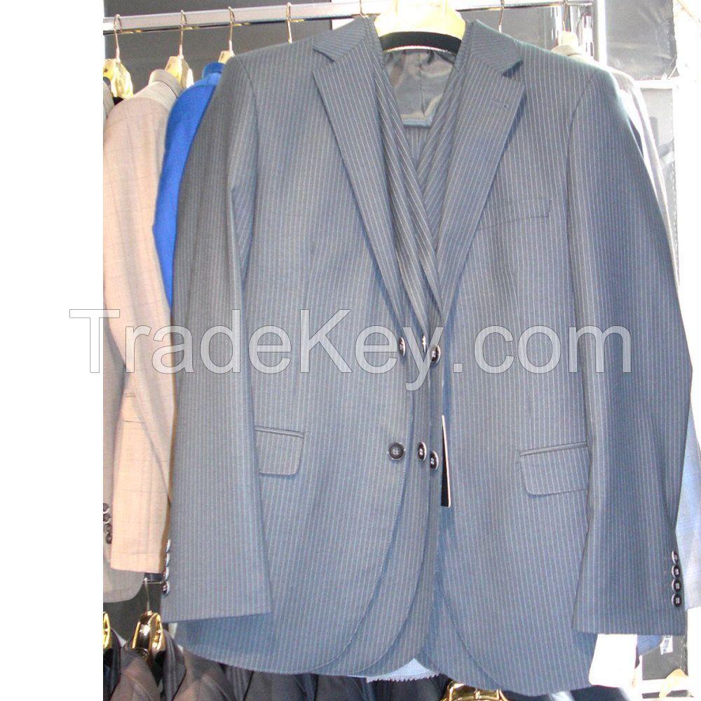 MENS STRIPES SUIT TWO BUTTON SLIM FIT DRESS WEDDING SUIT WHOLESALE DROPSHIPPING #N02