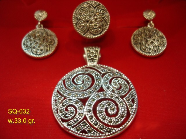 925 sterling silver jewellery with marcasite