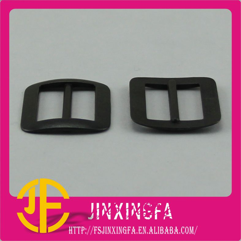 Fashion Slider Plated Black Metal Belt Buckle / Alloy Buckle / Belt Fastener