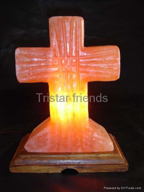 Cross shaped salt lamp