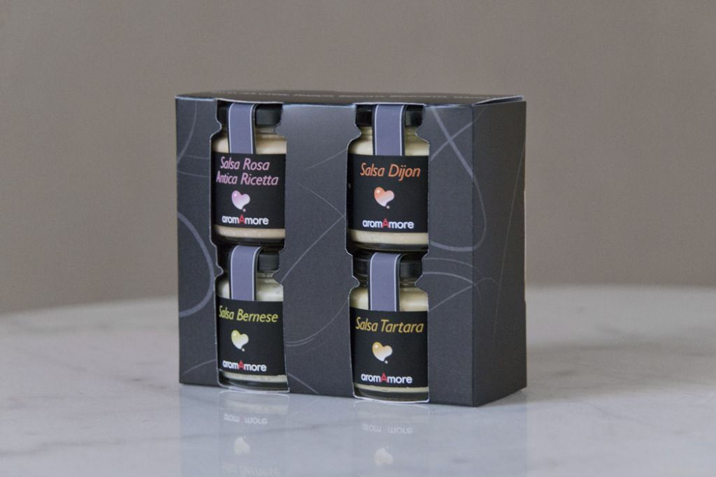 Gift pack with 4 sauces