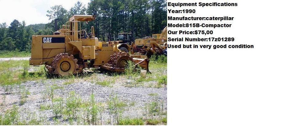 Caterpillar 815B Compactor