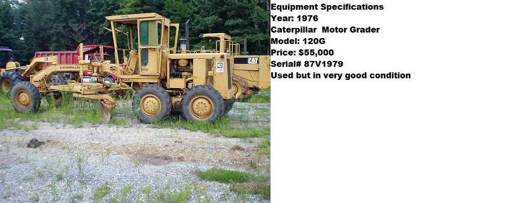120G Caterpillar Motor Grader