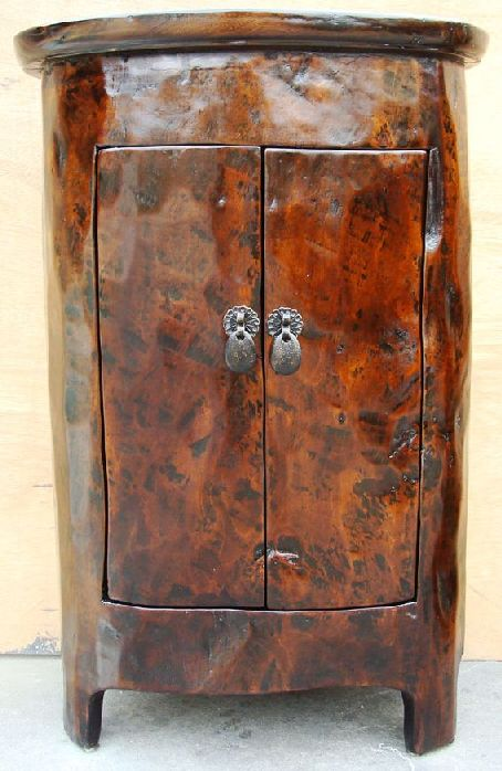 Unique 19th C. Chinese Tree Trunk Cabinet/Night Stand
