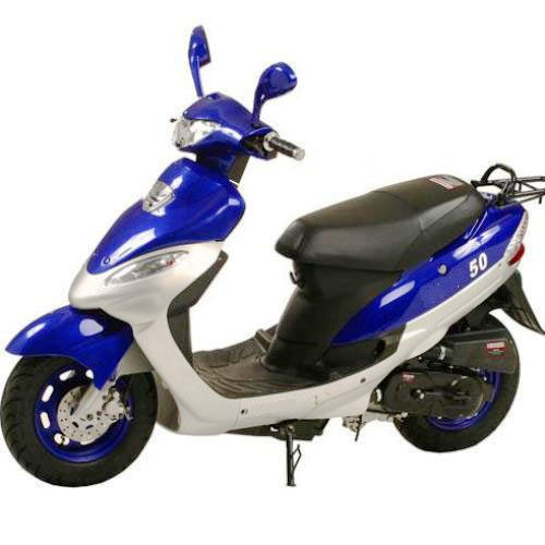 50cc Gas Moped Scooter Street Legal Automatic