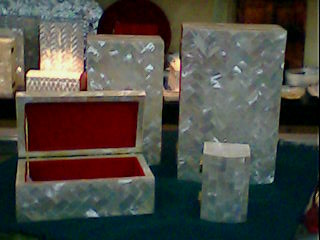 Handcrafted Mother of Pearl Jewelry Box