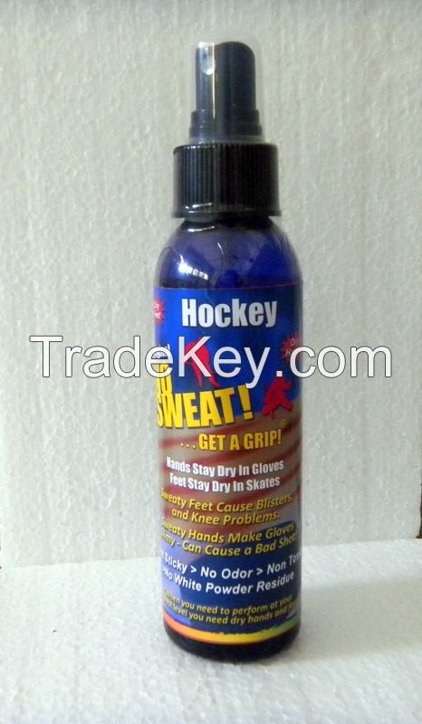 NO SWEAT HOCKEY - DON'T SWEAT IT! STOP SWEATY GLOVE - STOP SWEAT SKATES OR SHOES