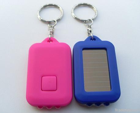 Led lighting solar keychain