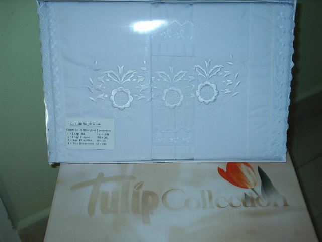 Embroidered Bed Sheet Set (Tulip Collection)