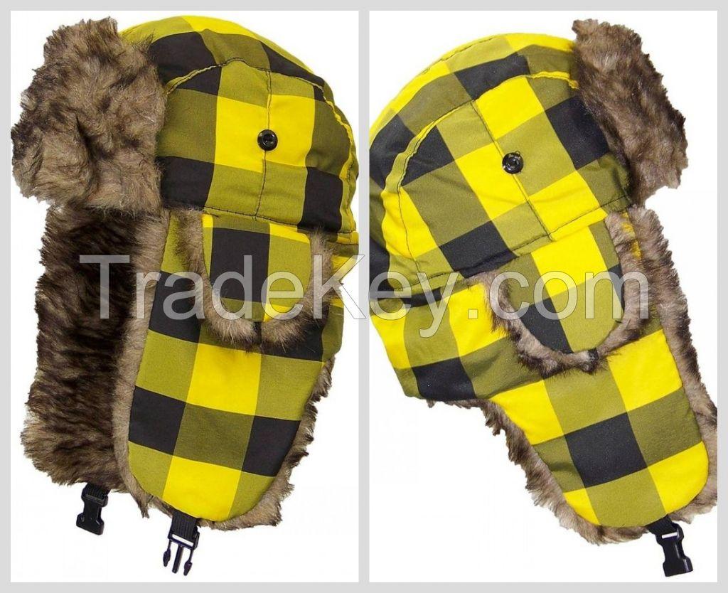 Hot Sale Ear Flaps Unisex Earflap Winter Russian Fur Hat