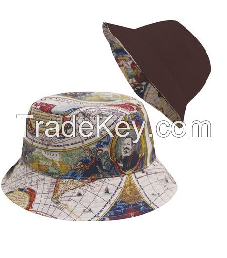 Wholesale Cotton Plain Custom Bucket Hat with String Fishing Hat Bulk