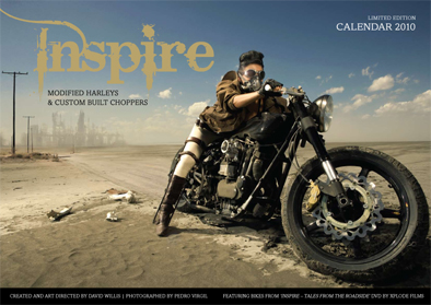 INSPIRE 2010 limited edition calendar - harley davidson and choppers