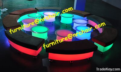 Acrylic LED Light Up sofa for Hotel Commercial Party Nightclub Use