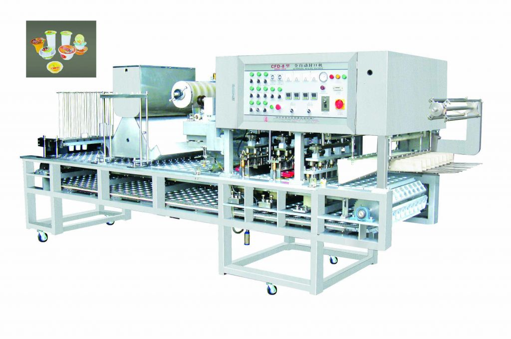 Auto cup beverage  filling and sealing machine