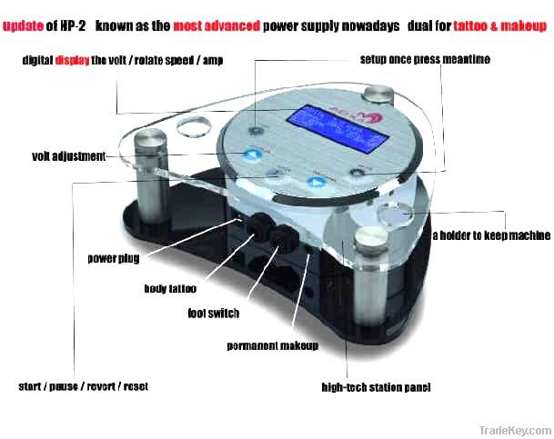 Latest Design LCD Power Supply Permanent Makeup Kit