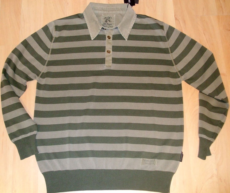 %100 Cotton Garment Dyed Mens Knitwear
