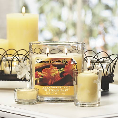 Orange Flower and Musk Scented Jar Candle