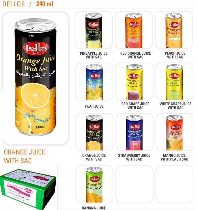 Dellos fruit juice