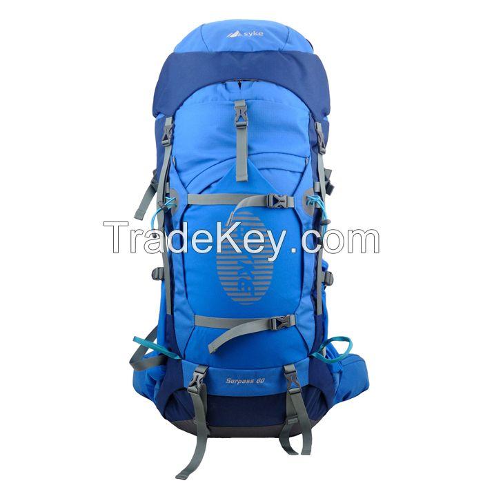 fashion 65L waterproof nylon sports hikingbackpack bag