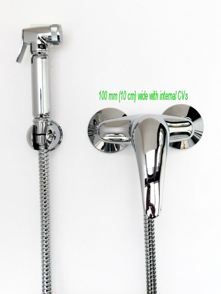 Bidet Shower Chrome plated with Warm Water controls