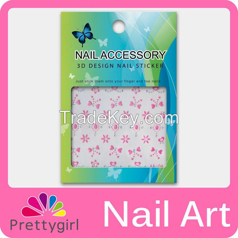 3D Nail Art Sticker Printer Pink Flower Start Heart Decoration